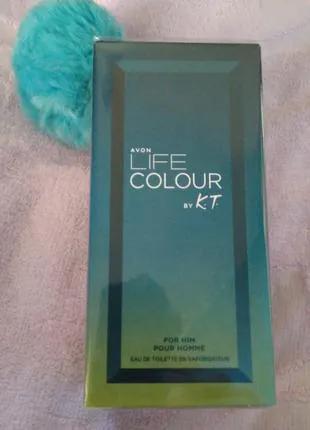 Туалетная вода Avon Life Colour For Him,75мл