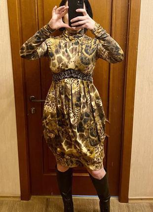 Нарядное трикотажное платье, подойдёт для беременных