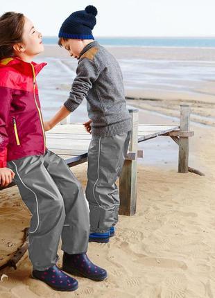 Дождевые брюки tchibo(германия) для активных детей! не продува...