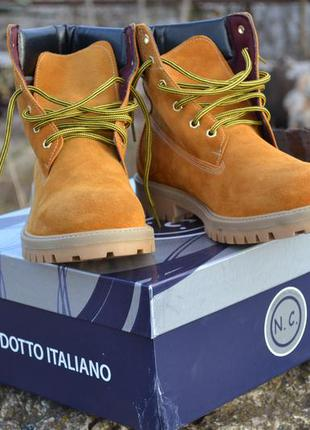 Ботинки мужские. нубук италия