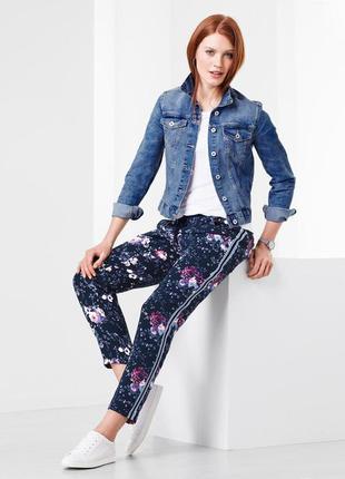 Тканые брюки с цветочным мотивом от tchibo(германия), рр. наши...