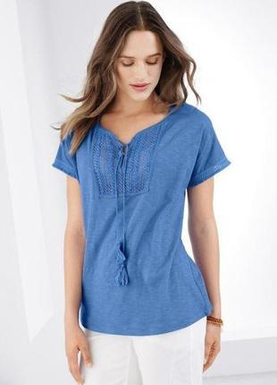 Красивая блуза футболка с вышивкой  тсм tchibo германия