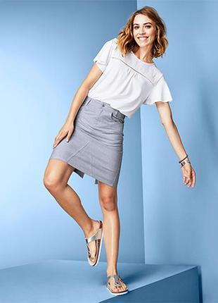 Мягкая.эластичная и стильная юбка из хлопка tcm tchibo