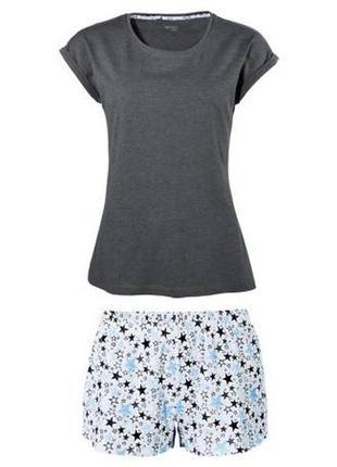 Пижама костюм для дома шорты футболка р. евро 36 38 s esmara г...
