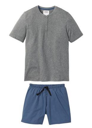 Пижама костюм для дома шорты футболка р.евро 60 62 xxl livergy...