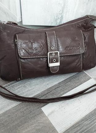 Кожаная сумка кроссбоди micmac