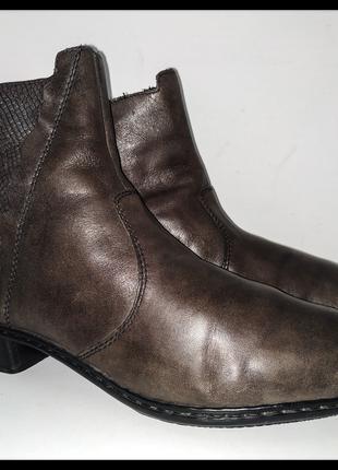 """Осенние кожаные женские полусапожки от бренда """"rieker"""", германия"""