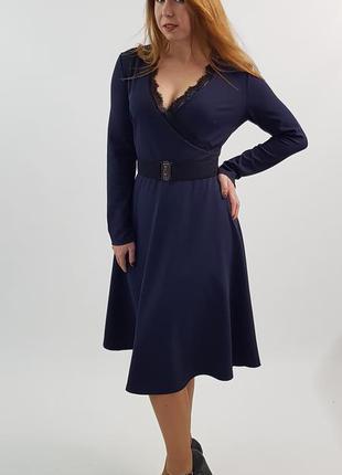 Платье женское с длинным рукавом юбка солнце от бренда adele l...