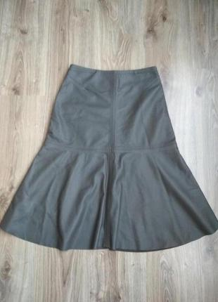 Кожаная юбка h&m, 💯% натуральная кожа