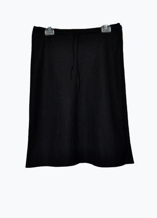 Льняная юбка-миди трапеция