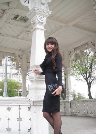Нарядное платье-чулок чёрного цвета, размер 44/s
