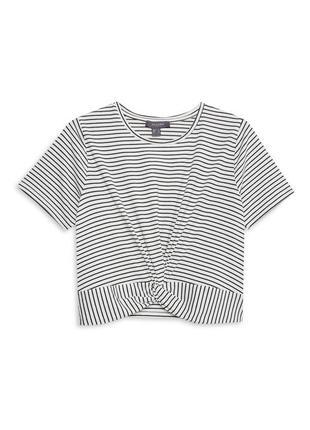 Полосатая футболка топ с узлом от primark