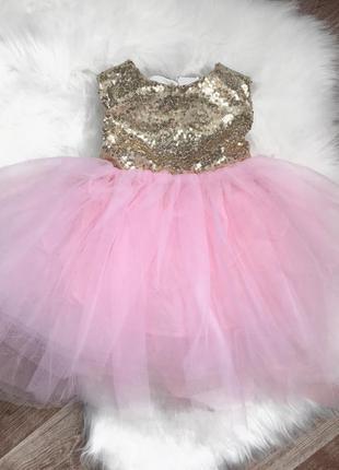 Платье принцессы с паетками, юбка из фатина 😍