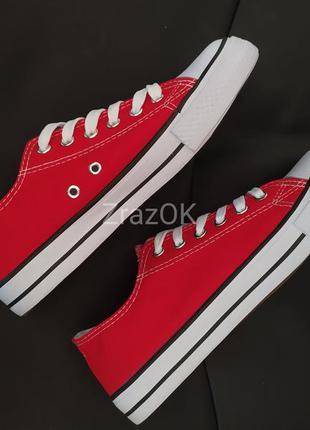 Красные кеды кроссовки мокасинв слипоны