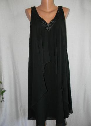 Красивое нарядное платье с пайетками planet