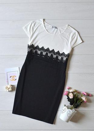 Красиве комбіноване плаття