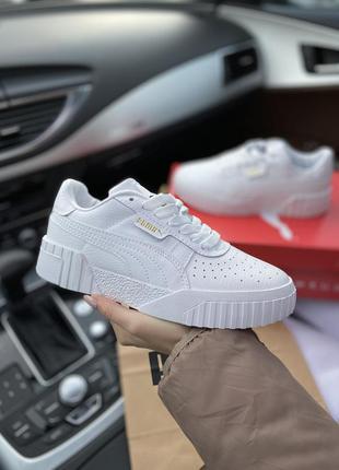 Белые кроссовки унисекс puma cali