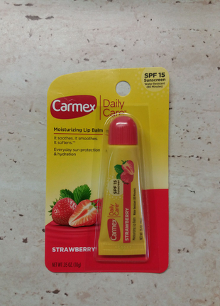 Бальзам для губ Carmex клубничный SPF15
