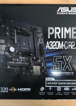 Нова материнська плата Asus Prime A320M-CR2.0.