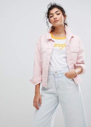 Джинсовка розового цвета джинсовая куртка курточка
