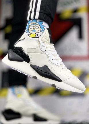 Мужские кроссовки адидас adidas yohji yamamoto y-3 kaiwa white...
