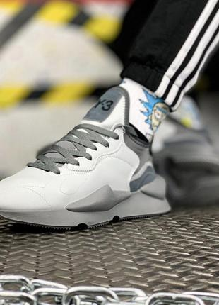 Adidas yohji yamamoto y-3 kaiwa grey, мужские кроссовки адидас