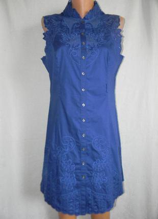 Натуральное платье с вышивкой karen millen