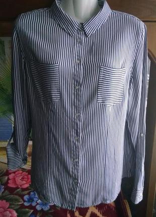 Полосатая рубашка,блуза 44-46р