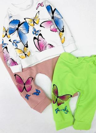 Костюм для малышек с бабочками