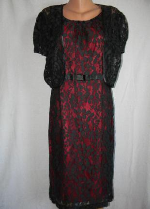 Нарядное кружевное платье + кружевная накидка roman oridinals