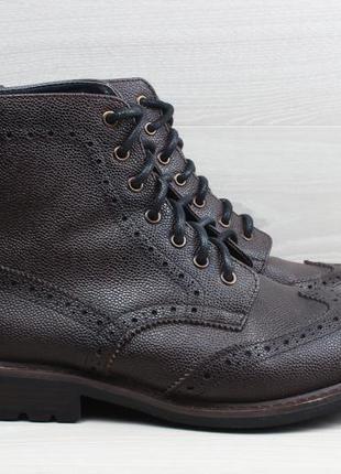 Мужские кожаные ботинки броги joseph abboud, размер 44 - 44.5