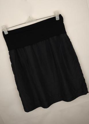 Юбка шелковая шикарная с карманами на подкладке  uk 10/38/s