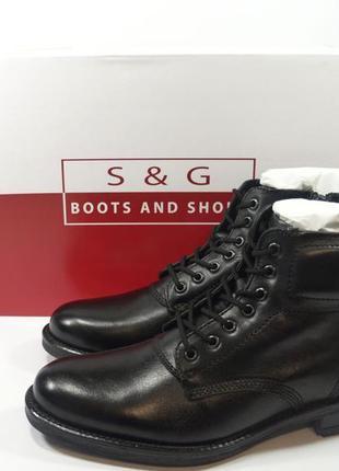 Ботинки s&g boots and shoes. кожа. зима. европа. 41,42,43,44,46р.