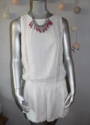 Белый ромпер комбинезон шортами tally weijl