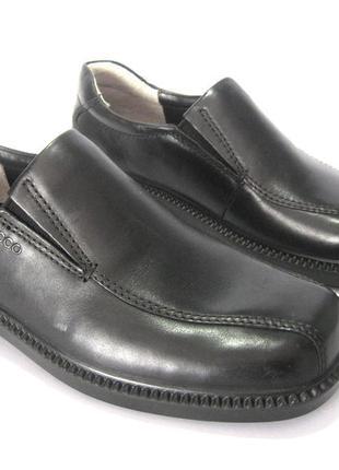 Туфли ecco dublin. оригинал, кожа.