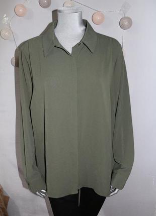 Рубашка блузка хаки new look