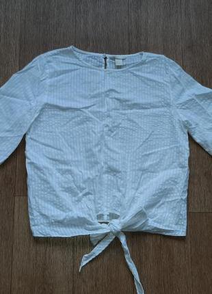 Блузка-рубашка из натурального хлопка
