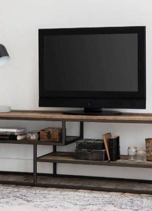 Тумба подставка под телевизор в стиле лофт