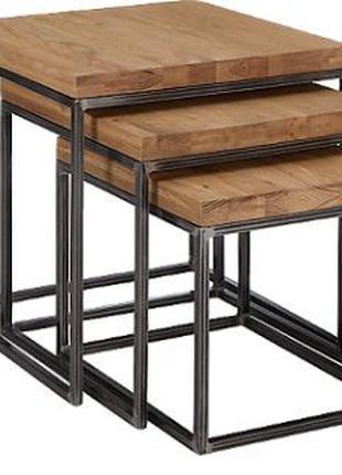 Набор журнальных столиков стиль лофт
