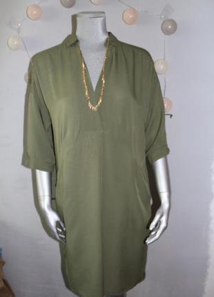 Хаки платье рубашка yaya