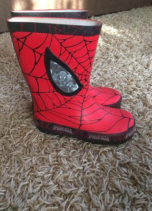 Резиновые сапоги spider-man