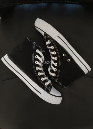 Черные высокие кеды кроссовки ботинки