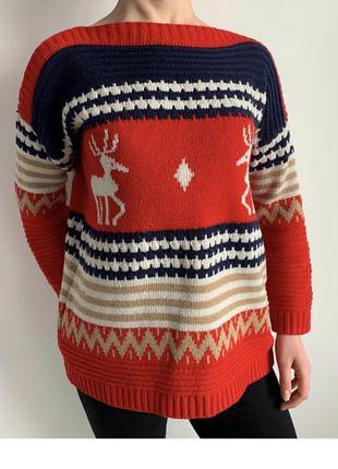 Кофта з оленями, яскрава кофта, світшот, тепла кофта, свитер, ...