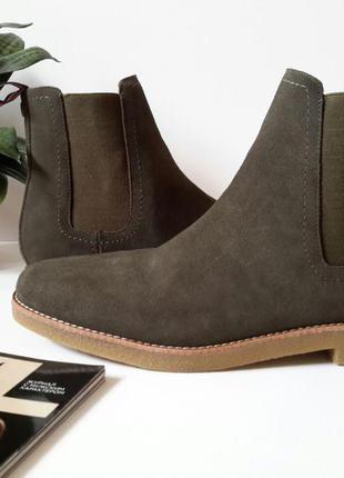 Мужские замшевые ботинки томми хилфигер