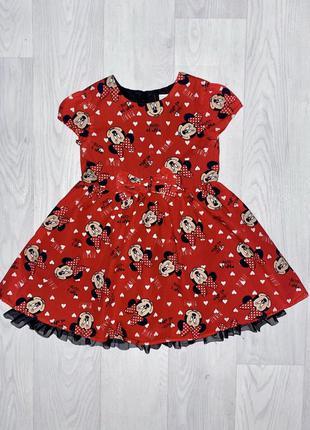Платье минни маус дисней девочка 3-4 года