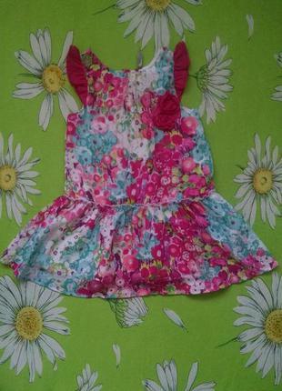 Яркое,летнее платье для девочки 3-4,6 года