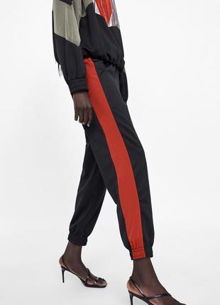 Джоггеры , спортивные штаны с контрастной полосой zara