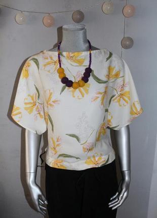Топ блуза в желтые цветы zara