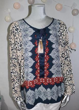 Красивая блуза рубашка в орнамент рисунок fb