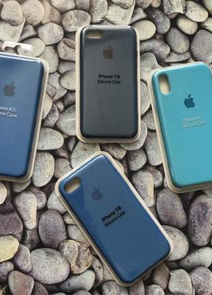 Силиконовый чехол Silicone Case для iPhone (айфон) 7/8/7+/8+/X/Xs